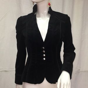 4 Velvety Military Jacket White House Black Market